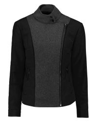 J Brand Black Sean Felt-paneled Quilted Stretch-cotton Twill Jacket