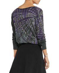 Raquel Allegra - Multicolor Tie-dyed Cotton-blend Jersey Top - Lyst
