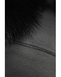 Jil Sander - Black Reversible Leather And Shearling Jacket - Lyst