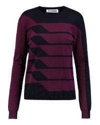 Jil Sander Multicolor Two-tone Wool-blend Sweater