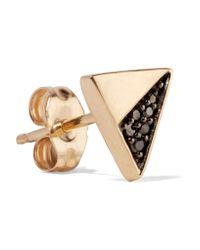 Adina Reyter Black Gold Diamond Earrings