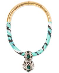 Shourouk | Multicolor Zulu Gold-tone, Crystal And Sequin Necklace | Lyst