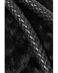 Alexander Wang - Black Goat Hair-paneled Leather Cosmetics Case - Lyst