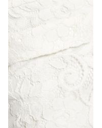 Alexis - White Ria Embroidered Lace Cotton-blend Flared Pants - Lyst