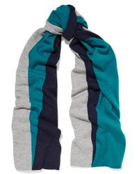 Magaschoni | Blue Color-block Cashmere Scarf | Lyst