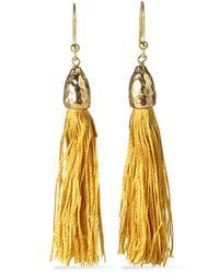 Rosantica Yellow Gold-tone Cord Tassel Earrings