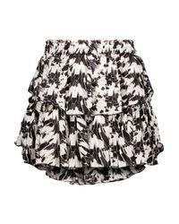 LoveShackFancy Black Mini Skirt