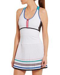 Monreal London White Sunray Stretch-jersey Tennis Dress
