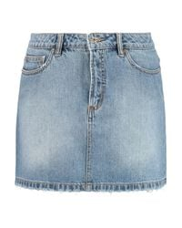 Marc By Marc Jacobs Blue Icon Faded Denim Skirt