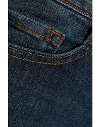 J Brand Blue Jude Mid-rise Straight-leg Jeans