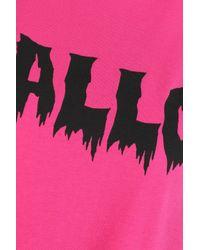 McQ Alexander McQueen Pink Printed Cotton-jersey T-shirt