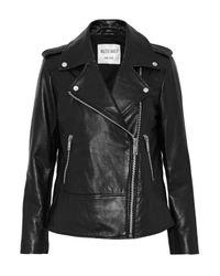 W118 by Walter Baker Woman Norris Studded Leather Biker Jacket Black