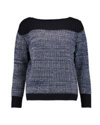 Marc By Marc Jacobs Blue Julie Merino Wool And Cashmere-blend Sweater