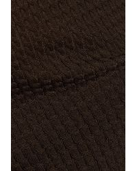 Valentino Brown Lace-paneled Wool-blend Sweater