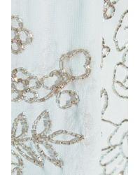 Needle & Thread Blue Embellished Chiffon Mini Dress