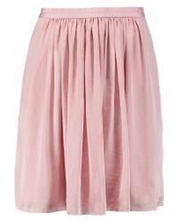 Needle & Thread   Pink Pandora Pleated Satin Mini Skirt   Lyst