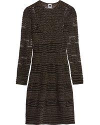 M Missoni Black Metallic Crochet-knit Dress