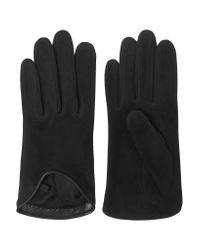 Rag & Bone | Black Moto Leather-trimmed Uede Glove | Lyst