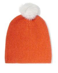 Rag & Bone | Orange Cynthia Ribbed Cashmere And Wool-blend Beanie | Lyst