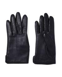 Rag & Bone | Blue Stella Wool-lined Leather Gloves | Lyst