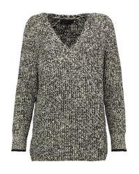 Rag & Bone | Gray Karen Mélange Ribbed-knit Sweater | Lyst