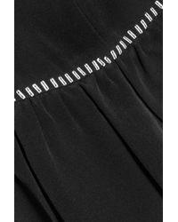 Isabel Marant | Black Eyelet And Sequin-embellished Silk Top | Lyst