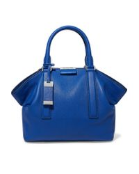 Michael Kors Blue Lexi Textured-leather Tote
