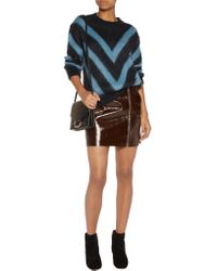 Sandro | Blue Chevron Knitted Sweater | Lyst