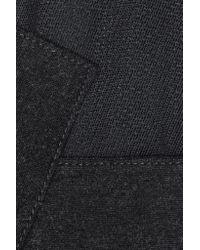 Donna Karan - Black Stretch-mesh And Brushed Wool-blend Bodysuit - Lyst