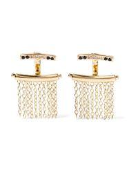 Elizabeth and James   Metallic Vago Gold-tone Crystal Earrings   Lyst