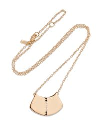 Elizabeth and James - Metallic Paxton Gold-tone Crystal Necklace - Lyst