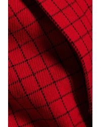 J.W.Anderson - Red Checked Wool And Mohair-blend Jacket - Lyst
