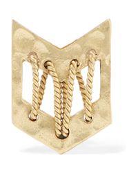 Maje | Metallic Gold-tone Earring | Lyst