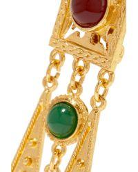 Ben-Amun - Metallic Gold-tone Bead Clip Earrings - Lyst
