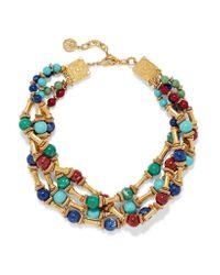 Ben-Amun   Metallic Gold-tone Stone Necklace   Lyst