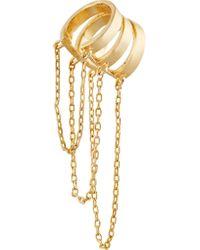 Noir Jewelry - Metallic Hidden Falls Gold-tone Ear Cuff - Lyst