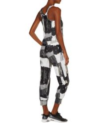 Norma Kamali - Multicolor Printed Stretch-jersey Track Pants - Lyst