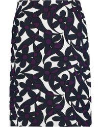 Marni | Blue Printed Stretch Wool-blend Skirt | Lyst