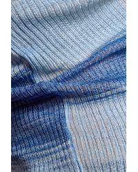 Missoni - Blue Stretch-knit Top - Lyst