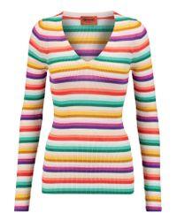 Missoni Multicolor Striped Cotton-blend Top