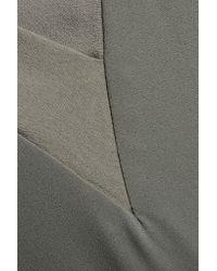 Dion Lee Gray Silk Chiffon-paneled Crepe Dress