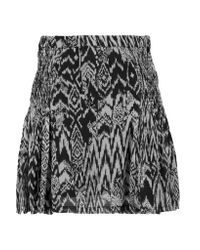 IRO Natural Adele Printed Crepe Mini Skirt