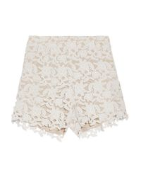 Raoul | White Guipure Lace Shorts | Lyst
