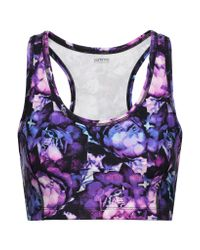 Yummie By Heather Thomson - Multicolor Printed Stretch-cotton Sports Bra - Lyst