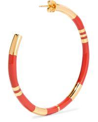 Aurelie Bidermann - Red Gold-plated And Resin Earrings - Lyst