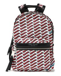 Marc Jacobs Faux Leather-trimmed Printed Shell Backpack White