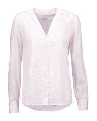 Equipment | White Adalyn Polka-dot Washed-silk Blouse | Lyst