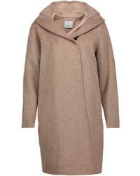 VINCE | Multicolor Wool-blend Hooded Coat | Lyst
