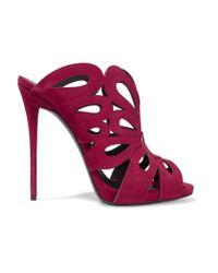 Giuseppe Zanotti Multicolor Cutout Suede Sandals