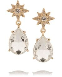 Kenneth Jay Lane | Metallic Gold-plated Crystal Earrings | Lyst
